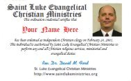 Clergy ID Card